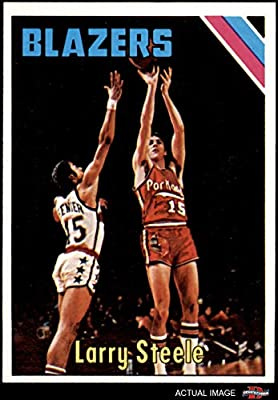 1975 Topps # 94 Larry Steele Portland Trail Blazers (Basketball Card) Dean's Cards 7 - NM Trail Blazers Kentucky
