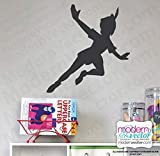 Peter Pan Flying Shadow Silhouette Vinyl Wall Decal V1