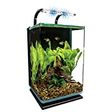 MarineLand Contour 5 aquarium Kit 5 Gallons, Rounded Glass Corners, Includes LED Lighting, Multi-Color, 5-Gallon (ML90611)