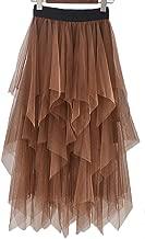 long brown tulle skirt