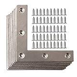Dproptel - Juego de 10 placas planas de acero inoxidable en forma de L para reparación de...