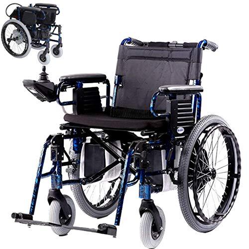 Behinderter Älterer Leichter Elektrischer Rollstuhl, Faltender Rollstuhl-Vollautomatische Induktions-Elektromagnetische Bremse Manuelles / Elektrisches Schalten 600W Bewegungsaluminiumlegierungs-Rahm
