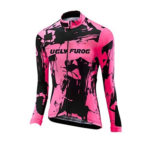 UGLY FROG Bike Wear Radsport Bekleidung Lady Langarm Trikots & Shirts Fahrradbekleidung Winter Style with Fleece Dahrradjacke Damen