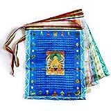 lanma Gebetsfahnen 20 Tibetische Fahnen 28 x 35 cm Buddhistische Gebetsfahnen Balkon Garten Deko Fähnchen, 2 Rolle