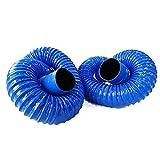 PEIHAN Manguera Flexible de PVC Veintitrés tamaños de diámetro - Secadora Universal, Campana extractora, Extractor de Aire, Manguera de Aire Acondicionado - 2 Metros de Longitud