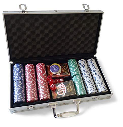 Grimaud- Mallette de Poker 300 jetons, 130005999, Argent