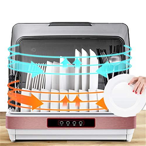 Gyz Mini tragbare Geschirrspüler Tischplatte, UV-Sterilisation Haushalt Luxuriöses Touchpanel, Edelstahl, Eco-Modus, eine Stunde, Desinfektionsglas und 42 l Kapazität