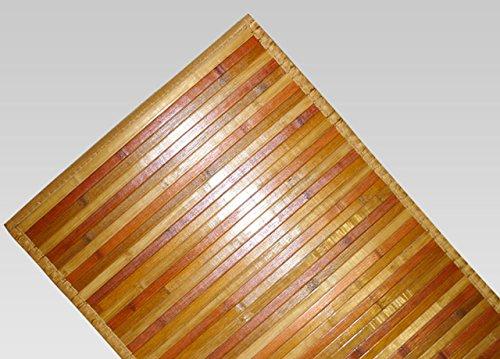 BIANCHERIAWEB Tappeto Bamboo Degradè in Varie Colorazioni 50x290 cm Beige