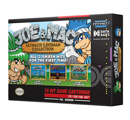 Retro-Bit Europe Joe and Mac Ultimate Caveman Collection PAL Version SNES Cartridge for Super NES (Nintendo Super NES) [Importación inglesa]