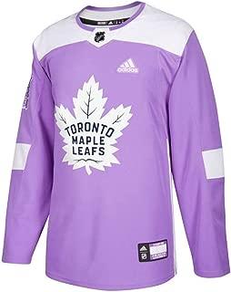 adidas Toronto Maple Leafs NHL Men's Purple Hockey Fights Cancer Practice Jersey
