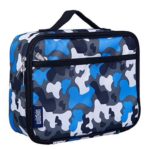 Wildkin Kids Insulated Lunch Box for Boys and Girls, Perfect Size for Packing Hot or Cold Snacks for School and Travel, Patterns Coordinate with Our Backpacks and Duffel Bags, Blue Camo