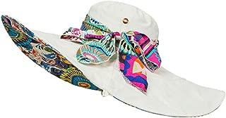 HaHaPo New Summer Sun Hats Bohemian Floral Style Beach Caps Large Hat Sun Hat for Girls Women Female