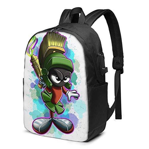 IUBBKI Bolsa para computadora mochila USB Men Women Packable Backpack with USB Charging Port, Durable Expandable SchoolBag, Book Bags Daypack for Outdoor Shopping Work, Cartoons Anime Mar-vin The Mar-