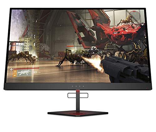 """HP - Gaming OMEN X 27 Monitor, Schermo 27"""" QHD 2560 x 1440 TN, Tecnologia AMD FreeSync 2 HDR, Tempo Risposta 1 ms Overdrive, Frequenza 240 Hz, Regolabile Inclinazione e Altezza, Nero"""