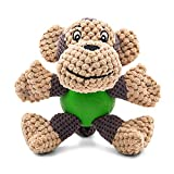 Dog Toy, Raffaelo Plush Squeaking Dog Toys, Dog Plush Toy, Chew Toy with Squeaker, Teeth Cleaning for Puppy, Small and Medium Dogs, Not Suitable for Big Dogs (Plush Toys-Monkey(5.9-6.2'))
