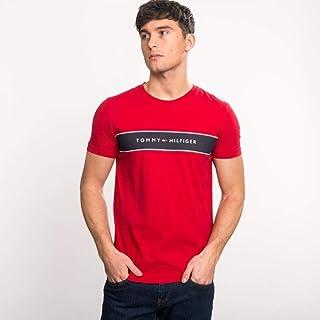 Tommy Hilfiger Men's Logo Chest Stripe T-Shirt