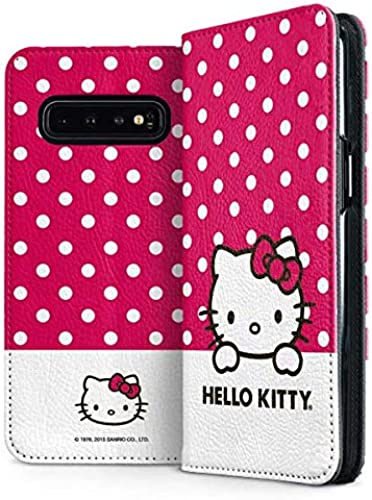 Skinit Folio Phone Case for Galaxy S10 – Officially Licensed Sanrio HK Pink Polka Dots Design