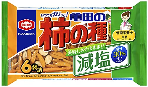 亀田製菓 減塩亀田の柿の種 6袋詰 173g ×12袋