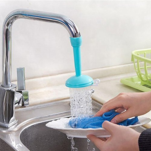 LtrottedJ Kitchen Faucet Bath Shower Anti Splash Filter Tap Water-saving Device ,Head (Blue)