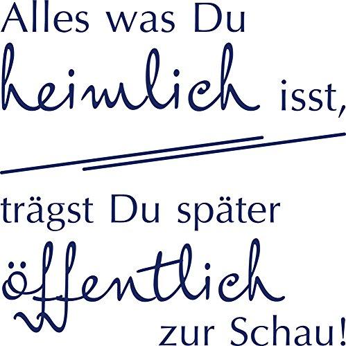 GRAZDesign Wandsticker Küche selbstklebend Motivation, Kühlschrankaufkleber Alles was Du heimlich isst, Kühlschrank Aufkleber Sticker / 40x40cm