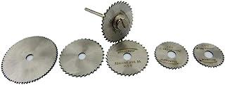 CLJ-LJ 6pcs / set HSS Mini cirkelsåg Träbearbetning slåttermaskin Blades Cutter Diamond Circular Abrasive Borra Ratory Ver...