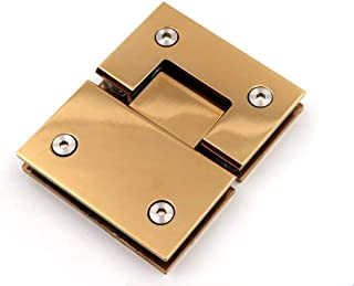 Gold Heavy Duty 180 Degree Glass Door Cupboard Showcase Cabinet Clamp Glass Shower Doors Hinge Replacement Parts Wall-to-G...
