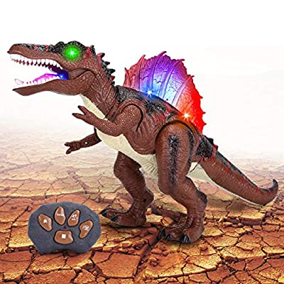 Acksonse Dinosaur Toys for Kids 3-5, Remote Control Dinosaur Spinosaurus Electronic Pets with LED Light Up Walking & Roaring Realistic Simulation Sounds for 3 4 5 6 7 Year Old Boys Girls Gifts