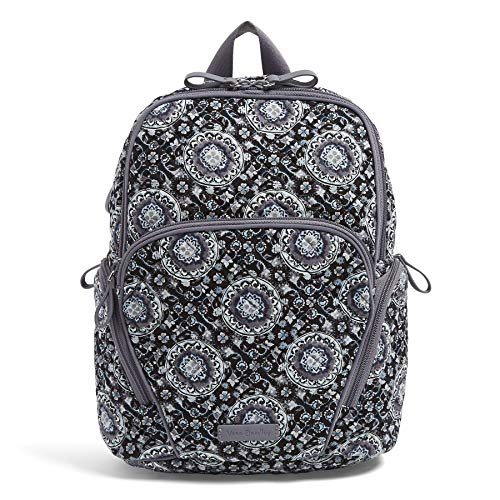Vera Bradley Signature Cotton Hadley, Charcoal Medallion