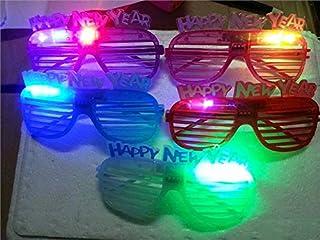 Pengcher Louver LED Glasses Christmas Ornaments Glasses Frames Party Xmas Decoration(Random)