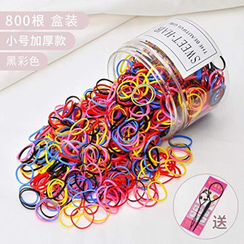 HSC Gum for Hair Children Rubber Bands Ponytail Holder Elastic Hair Band Girls Scrunchie Hair Accessories,B4 800PCS