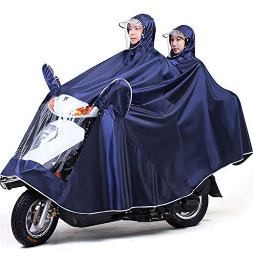 Electric Mobility Scooter Motorfiets Grote Rain Cape Coat, Om Te Fietsen, Hardlopen, Unisex - Hooded Compact Rain Cape,Navy,5XL