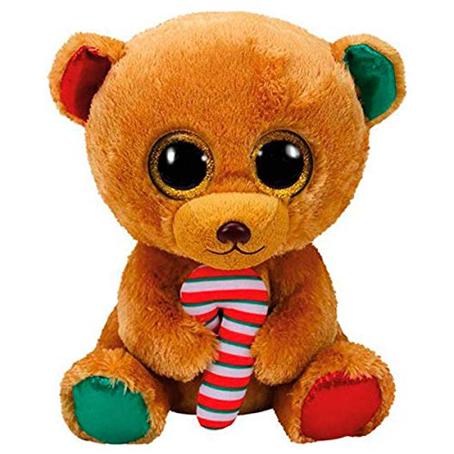 TY - Beanie Boo's Bella, Osito Navidad, 40 cm (United Labels Ibérica 37254TY)