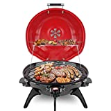 Techwood Electric BBQ Grill 15-Serving Portable Grill for Outdoor and Indoor Use, 18 inch Tabletop Grill, 1600W
