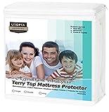 Utopia Bedding Protector de colchón Impermeable hipoalergénico Premium - Funda de colchón Equipada (90 x 190 cm)