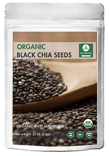 Black Chia Seeds (2lb) by Naturevibe Botanicals, (32 ounces)
