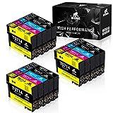 IKONG T0715 Multipack Compatible Cartuchos de Tinta Epson T0711 T0712 T0713 T0714 para Epson Stylus SX218 SX205 SX215 SX405 SX210 DX4000 DX4400 DX7400 DX8400 BX300F (6Negro,3Cian,3Magenta,3Amarillo)
