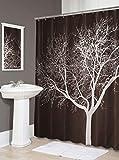 Splash Home Duschvorhang, aus Polyesterstoff, 183 x 183 cm, Schokoladenbraun