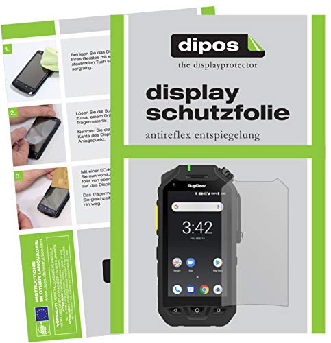 dipos I 5X Schutzfolie matt kompatibel mit Ruggear RG725 Bildschirmschutz-Folie
