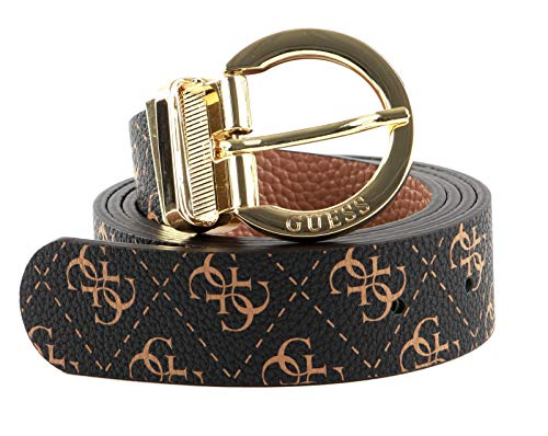 Guess Alby Adjustable And Reversible Pant Belt W85 Brown Logo/Mocha