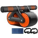 Dual Wheel Abdominal Exercise Roller mit Knieschoner-Matte und Komfortschaumgriffen Perfekt für Fitness-Heim- und Fitness-Workout, C.
