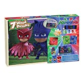PJ Masks - 7 Wood Jigsaw Puzzles in Wood Storage Box