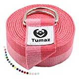Tumaz Yoga Strap/Stretch Bands with Extra Safe Adjustable D-Ring Buckle, Durable and Comfy Delicate Texture - Best for Daily Stretching, Physical Therapy, Fitness from Tumaz