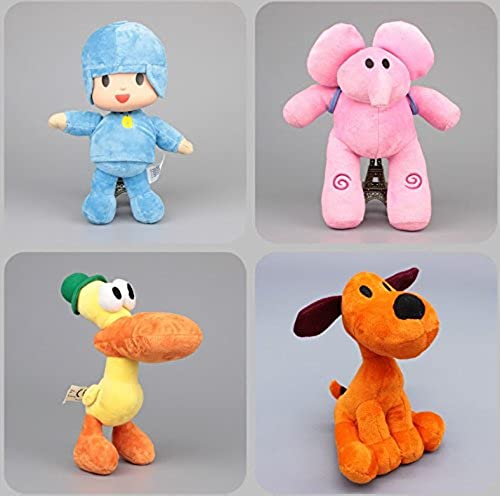 buena reputación Pocoyo Dog Loula Elephant Elly Duck Pato Toddler Stuffed Stuffed Stuffed Plush Kids Toys 4 Pcs set by kidsheaven  hasta 60% de descuento