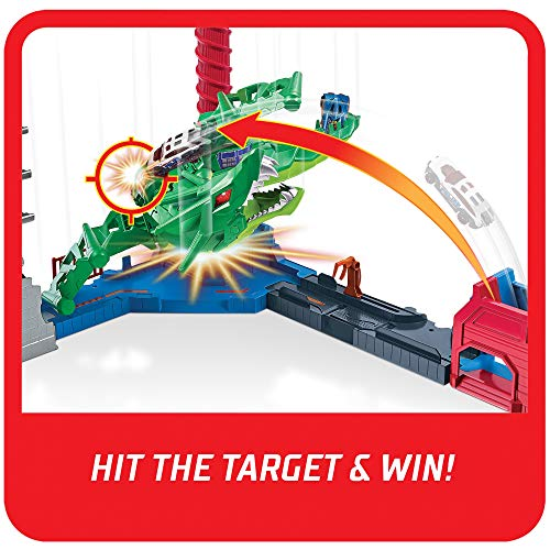 Hot Wheels Air Attack Dragon Motorized Playset with Flying Nemesis, Different Sound FX Combinations, One 1:64 Scale Hot Wheels Vehicle, Gift Idea for Kids 3 Years Old  Massachusetts