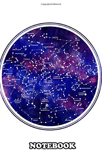 Notebook: Star Map Northern Hemipshere , Journal for Writing, College Ruled Size 6