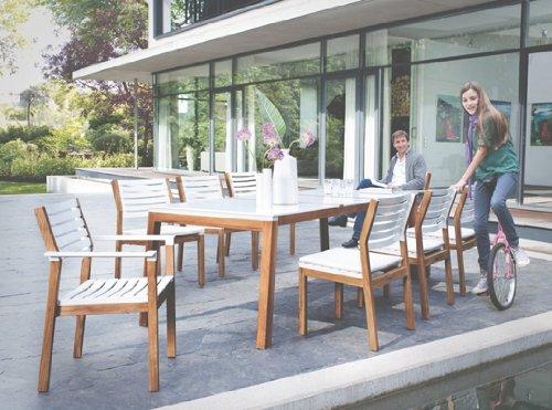 Tisch Magnus Teak/weiß 160 x 95 x 75 cm von Kettler *30100621*