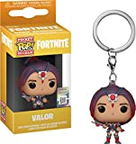 LAST LEVEL- Keychain Pocket Llavero Pop FORTNITE: Valor, Multicolor (Funko 1)...