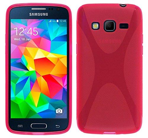 Tumundosmartphone Funda Gel TPU para Samsung Galaxy Core Prime G360F X-Line Color Rosa