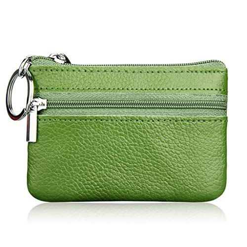 siwetg zachte mannen vrouwen kaart munt sleutelhanger rits echt lederen portemonnee tas tas