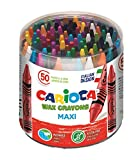CARIOCA MAXI WAX | 42388 - Caja de Ceras Maxi, Colores Surtidos 50 Unidades